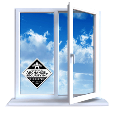 Home security window decal