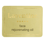 Metallic gold foil and black on dull gold rectangle Laventine foil label
