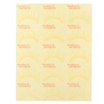 Yellow sun and red ink Breakfast At Sunrise square 15 per sheet custom laser inkjet labels