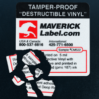 Destructible security labels