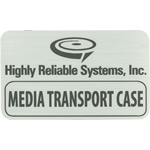 Black Text on Silver Rectangle Highly Reliable Systems, Inc. Equipment Label