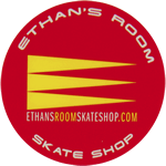 Multi-spot color on paper circle Ethan's Room Skate Shop cheap label
