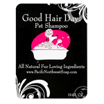 Hot pink and black bathtub on white paper round corner rectangle Good Hair Day cheap label