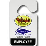 Parking permits tags and labels