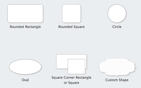 Standard and custom shapes for window decals