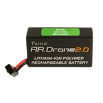 Green drone label on drone battery pack
