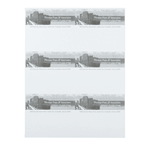 Gray cityscape on white Thomas Pope & Associates rectangle 6 per sheet custom laser inkjet labels