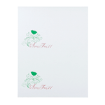 Green and maroon decorative leaf and flower Spring Fling '11 rectangle 2 per sheet custom laser inkjet labels