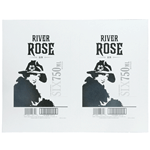 Black and gray woman with vintage hat River Rose Gin rectangle 2 per sheet custom laser inkjet labels