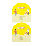 Yellow background with dancing kids CD 2 per sheet custom laser inkjet labels