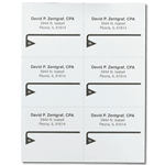 Black triangle design David P Zentgraf CPA mailing & shipping labels on sheet sample