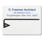 Black triangle design D. Freeman Architect mailing & shipping label sample