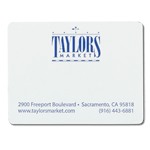 Blue ink on white Taylors Market custom mailing & shipping label sample