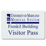 Hospital visitor pass name badge