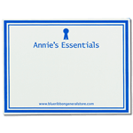 Square cornered name badge for Anne's Essentials
