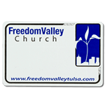 Church name badge sticker