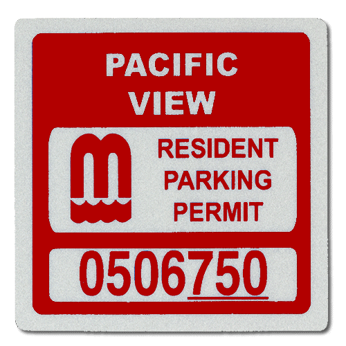 Parking Permit Hang Tag And Parking Sticker Styles Of