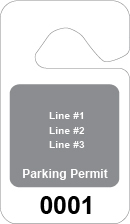 text with background parking permit
