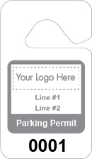 text & logo parking permit