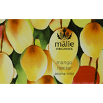 Watercolor mangoes rectangle Maile Organics Aroma Mist process color label