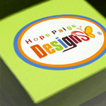 Full color product label featuring multi-colored letters on a green product box