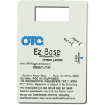 Blue Logo and Black Text Rectangle with Cutouts OTC Equipment Label