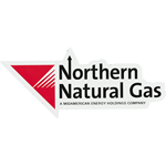 Red Logo and Black on White Custom Shape Northern Natural Gas Equipment Label