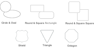 Static Cling Standard Shapes