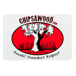Red and black tree on white paper round corner rectangle Chipsawood cheap label